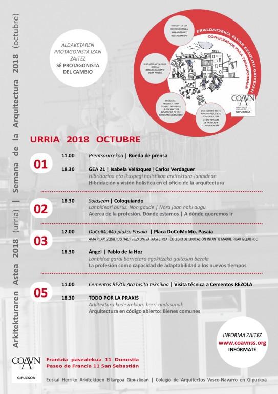 Cartel de la Semana de la Arquitectura 2018